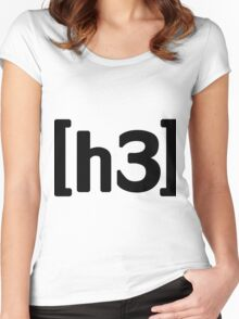 h3h3 - Black Women's Fitted Scoop T-Shirt