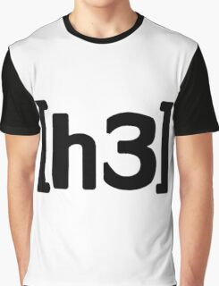 h3h3 - Black Graphic T-Shirt