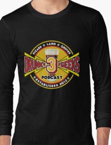 3 Drunk Geeks Logo: Dark Long Sleeve T-Shirt