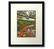 Portland Mills Covered Bridge in Autumn Framed Print