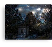 Cemetery Magic on All Hallow's Eve Canvas Print
