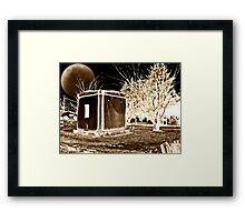 Spooky Sepia Night Framed Print