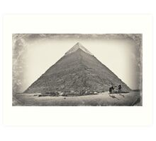 The pyramid of Chefren Art Print