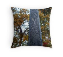 Odd Monolith At The Cemetery Throw Pillow