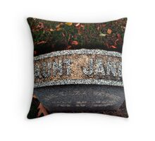 Aunt Jane's Tombstone Throw Pillow