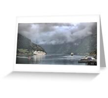 The MS. Albatros (3) = Under a Low Cloud Greeting Card