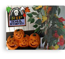 Happy Pumpkins On My Porch Metal Print