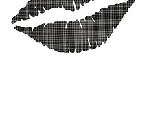 Black Crosshatch Lips by kwg2200