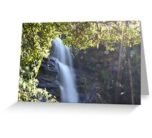 Waterfall In The Heart Of Madagascar Greeting Card