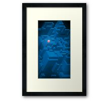 Minimalistic Structure Framed Print