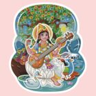 Saraswati - Hindu Goddess - Bunch of Bhagwans by hinducloud