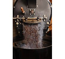 Coffee roaster pouring beans Photographic Print