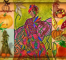 The Spirit of Autumn Collage by Jane Neill-Hancock