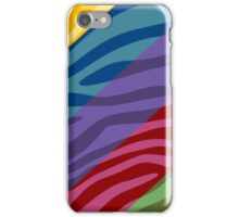 Animal Print Skin Zebra Retro Colorful Pattern 2 iPhone Case/Skin