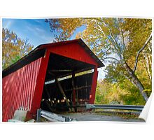 Red Covered Bridge and Giant Sycamore Poster