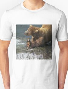 Bear catching beer in a river T-Shirt