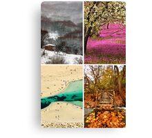 Four seasons in Greece Canvas Print