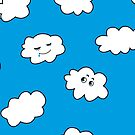 Blue Sky Happy Cartoon Clouds  by Boriana Giormova
