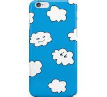 Blue Sky Happy Cartoon Clouds  iPhone Case/Skin