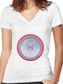 Drink can Women's Fitted V-Neck T-Shirt