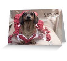 I love you this much... Greeting Card