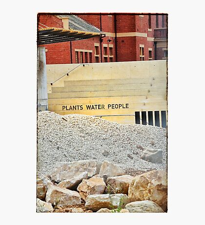 Plants Water People Photographic Print