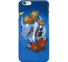 Butterflies Blue 2 iPhone Case/Skin
