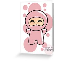 Pink Ninja Greeting Card