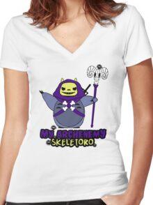 My Archenemy Skeletoro Women's Fitted V-Neck T-Shirt