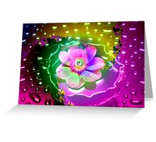 Lotus in the Rain Greeting Card