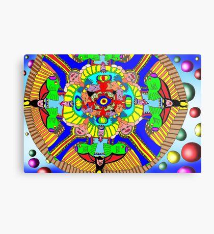 Mind map as a Mandala Metal Print