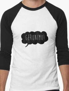 Geronimo! (Black) Men's Baseball ¾ T-Shirt