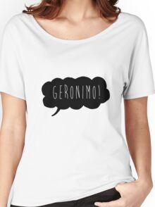 Geronimo! (Black) Women's Relaxed Fit T-Shirt