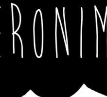 Geronimo! (Black) Sticker