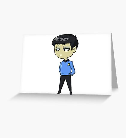 Mister Spock is not pleased Greeting Card