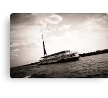 Boat walk Canvas Print
