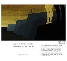 """Cape Town"" in words & image (Toni Demuro) Photographic Print"