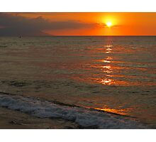 tropical sunset III - puesta del sol tropical Photographic Print