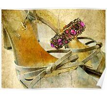 Sandals and Bracelet Poster