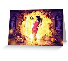 The Fire Witch  Greeting Card