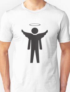 Mens Toilet Sign Angel Unisex T-Shirt