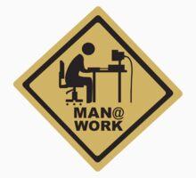 Men At Work Computer Desk by retromoomin