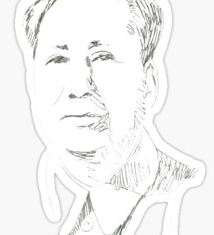 Chairman Mao T-shir China Sticker