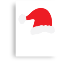 Christmas Father Santa Hat Red Canvas Print