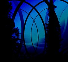 Magic Blue Palace Window Digital Art by VibrantDesigns