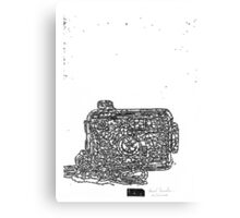 LINEart camera 09: Toy camera Canvas Print