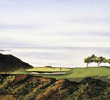 Torrey Pines South Golf Course Hole 3 by bill holkham