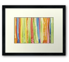 colorful painted  Framed Print