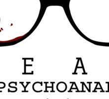 Bloody Psychoanalyze V.2  Sticker