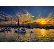 Yarmouth Sundown Photographic Print